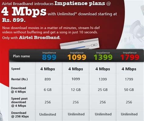 aruninte airtel broadband plans 2mbps impatience