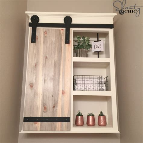 bathroom organizers diy diy sliding barn door bathroom cabinet shanty 2 chic