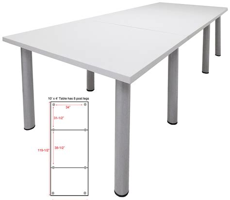 10 x 4 conference table white conference tables 8 length see other sizes