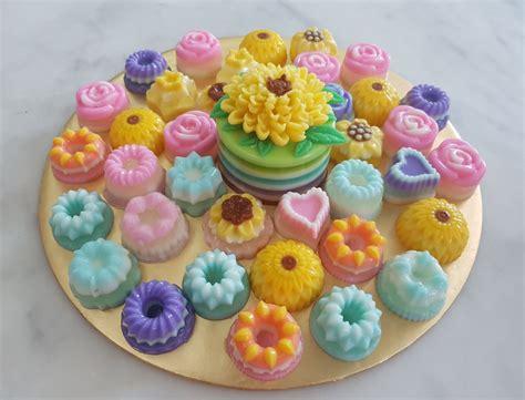 Ch Flower Jelly Mate yochana s cake delight bite size flower jelly
