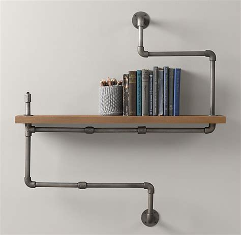 plumbing pipe shelves plumbing pipe shelves and hangers diy for
