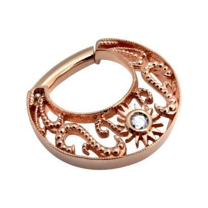 Decorative Septum Jewelry by Bvla Miro 36 0077 Gold Decorative Septum Ring