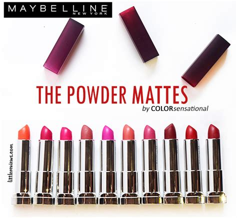 Maybelline Lip Powder all 10 shades of maybelline color sensational powder matte lipsticks review and swatches