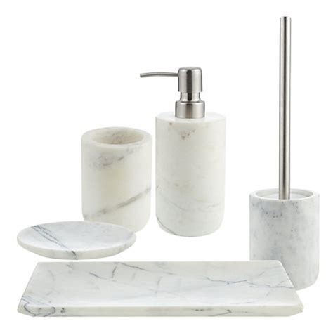 Buy Bathroom Accessories Buy Lewis White Marble Bathroom Accessories Lewis