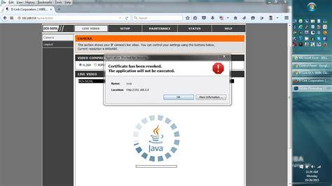 dlink viewer d link certificate has been revoked java viewer