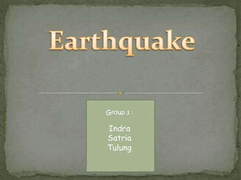 earthquake report text earthquake non text indra satria tulung smp