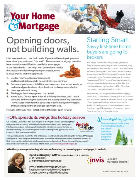 Loan Newsletter Self Employed Time Homebuyer Mortgage Newsletter Canadianmortgageco Mortgage