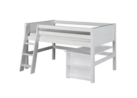 size low loft bed with desk camaflexi size low loft bed with retractable desk
