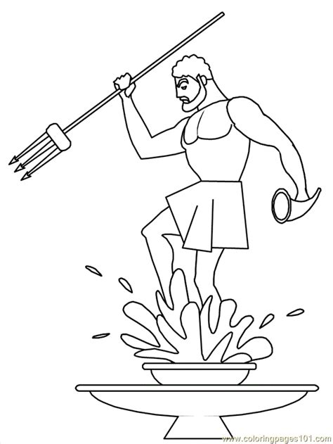 free coloring pages of b poseidon