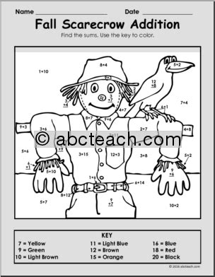 addition fall coloring pages fall math activities addition coloring packet find the
