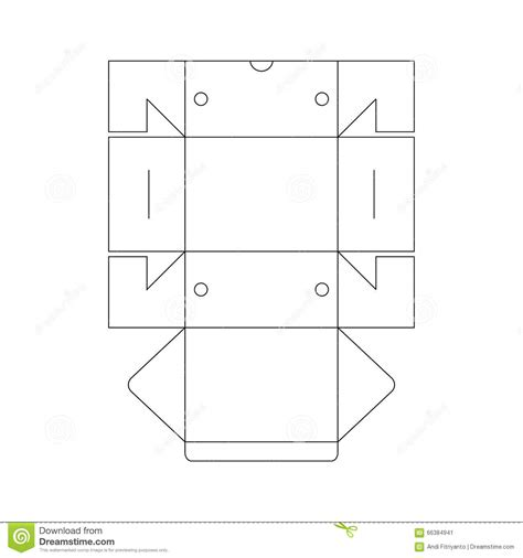 technical data package template packaging box template stock vector image 66384941