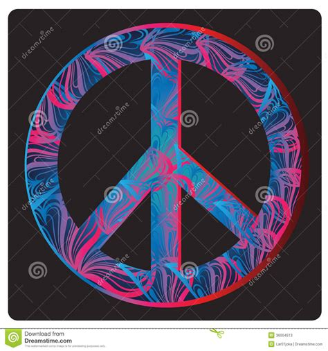 Peace Sign With Color On Inside Peace Symbol Stock Photos Image 36004513