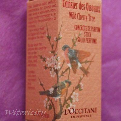 l occitane cherry tree solid perfume stick witoxicity