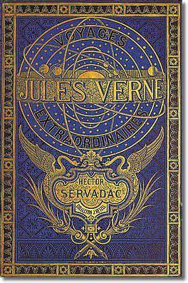 Hector Servadac Classic Reprint couverture de livre covers book illustration bleu dor 233