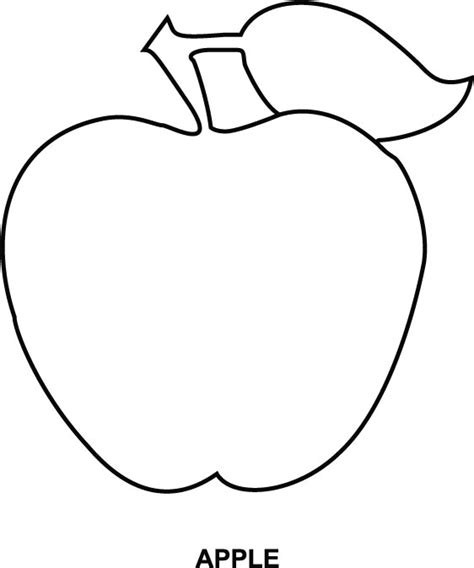 apple coloring page download free apple coloring page