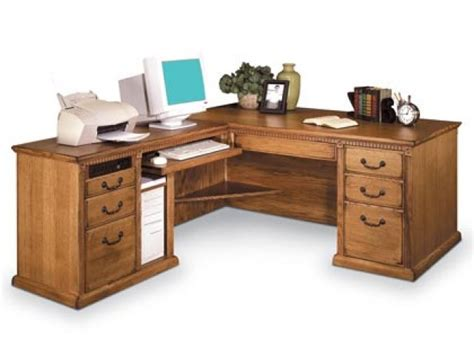 L Shaped Office Desk Americana L Shaped Office Desk W Left Return Mac 684l