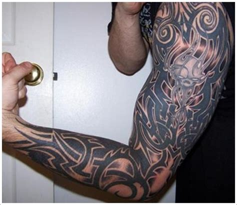 full arm tattoo tribal arm tattoos page 11