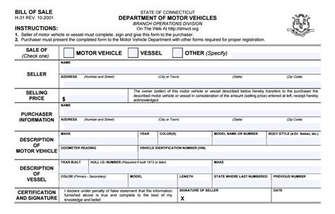motor boats for sale ct free connecticut dmv bill of sale form pdf docx
