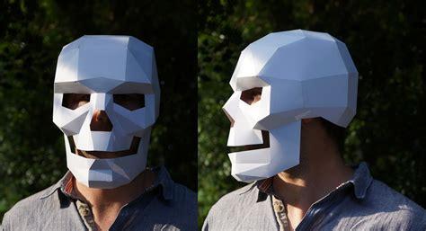 printable geometric mask template diy geometric paper masks by steve wintercroft colossal