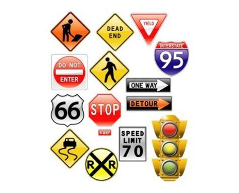 13 glossy road signs traffic light icons set welovesolo