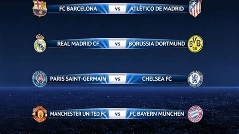 Calendario Youth League Uefa Chions League Quarter Draw Result Uefa