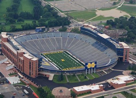 Michigan The Big House Seating Capacity 109 901 Sports Pinterest The O Jays