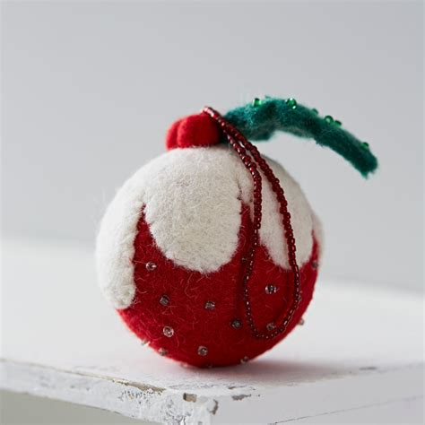 felt christmas pudding decoration contemporary