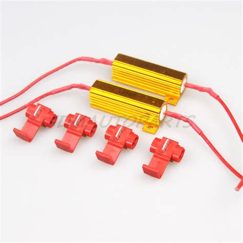 resistor for smd led 2pc 50w6ohm load resistors led smd t10 1157 7440 t20 light bulb current draw fix