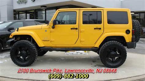 baja jeep 2015 jeep wrangler unlimited sahara baja yellow youtube