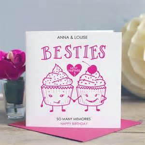 best friend birthday card besties by designs notonthehighstreet