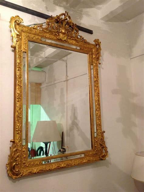lade da tavolo antiche francesi specchiera antica dorata a foglia oro