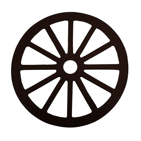 Decorative Wheel Covers by Glide 3 1 8 In Dia Wagon Wheel Decorative Black