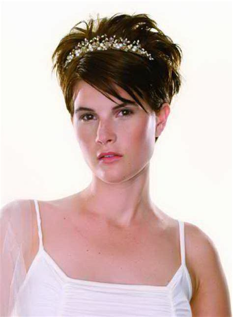 hairstyles short hair for wedding very short bridal hairstyles