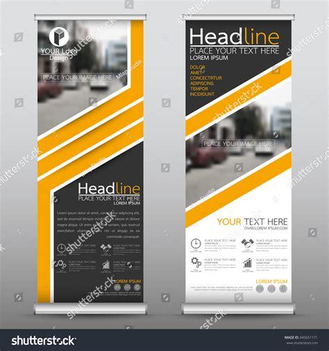 Layout X Banner | yellow roll business brochure flyer banner vectores en