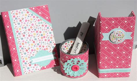 set de bureau fille que faire avec les lovely canvas cartonnage couture