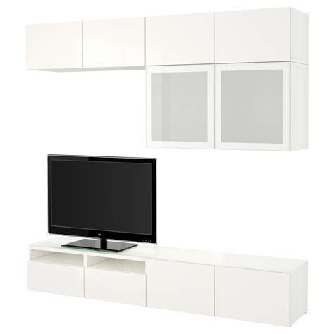ikea besta glass best 197 tv storage combination glass doors white selsviken