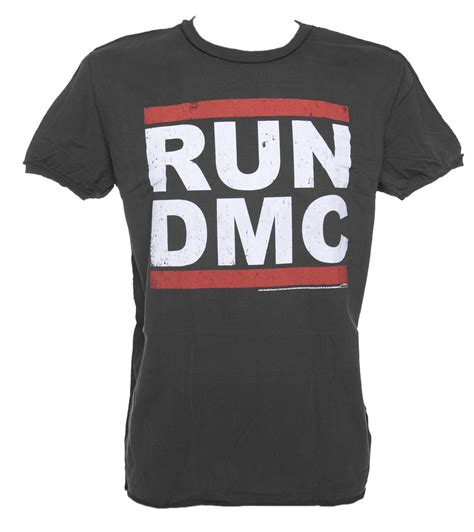 Run Dmc Logo Grunge Design Sweater s charcoal run dmc logo t shirt from lified