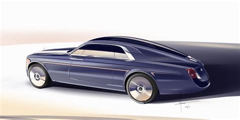sweptail rolls royce rolls royce sweptail design sketch render car body design