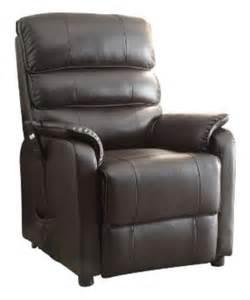 homelegance 8545 1lt power lift recliner chair brown