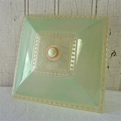 clip on ceiling light covers pale green square clip on plastic ceiling light cover 1940s