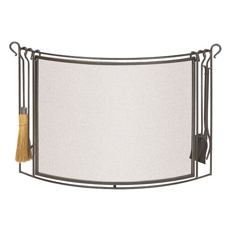 curved fireplace screens firescreen with tools stovax accessories