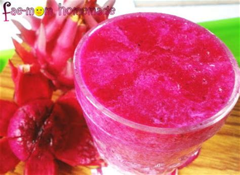 cara membuat es jus buah naga fae mom homemade jus buah naga dragon fruit juice
