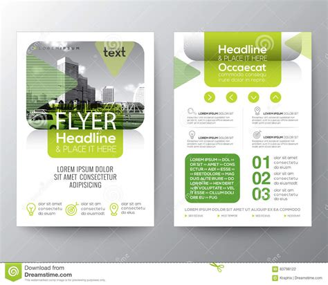 green brochure layout vector green brochure cover flyer poster design layout template