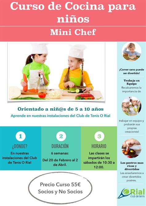 16 hermoso cursos cocina para ni 241 os im 225 genes