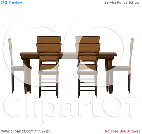 of a wooden dining room table and chairs royalty