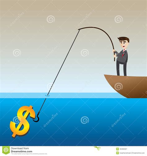 boat financing capital one businessman fishing money cartoon vector cartoondealer