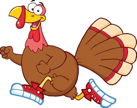 Turkey Trot Clipart running turkey trot clipart