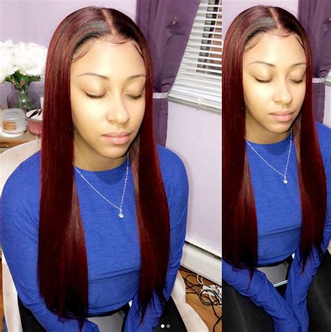 colored sew in weave sew in weave hairstyle with color just this color
