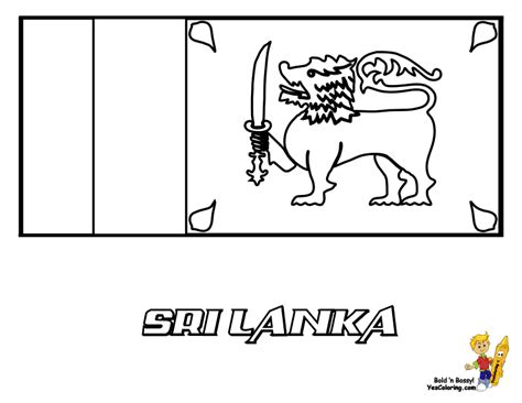 Sri Lanka Flag Coloring Page grand flag coloring pictures flags of kitts