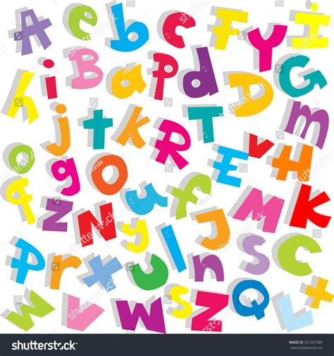 Letter Image alphabet background small and capital letters stock photo